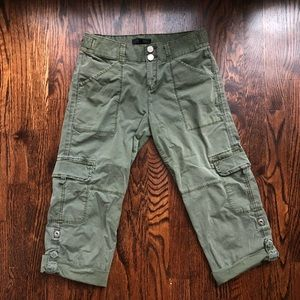 Sanctuary Utility Cropped Army Green Pants
